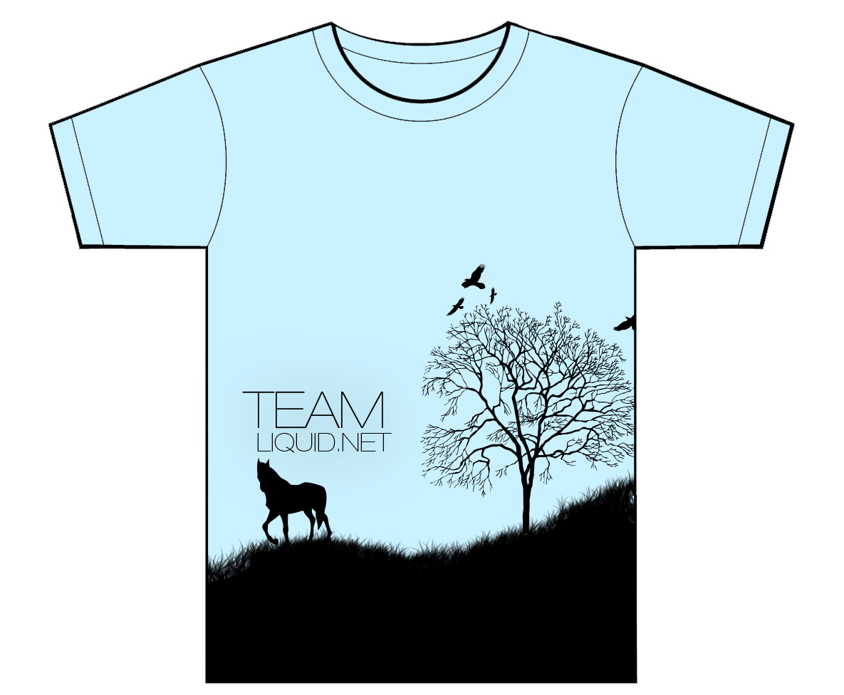 Design a t shirt horse - The Second Design Is Called Random Meadow With A Horse Tree And Birds Design I Had A Horse Jumping Over A Fence First But It Looked Better Like This